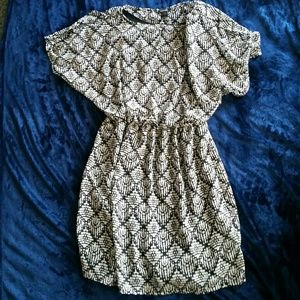 Printed blk/wht dress